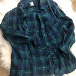 H&M fitted plaid flannel